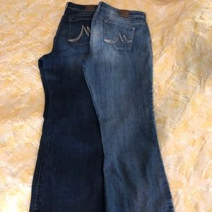 Maurices Boot Cut Jeans, size 20 reg, 2 pair